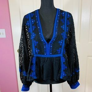 Free People black lace top - Large